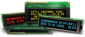 example image of the character oled displays