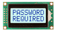 Newhaven Display NHD-0208BZ-FSW-GBW-33V3 LCD Character Display, 2 x 8 Characters