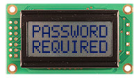 Newhaven Display NHD-0208BZ-RN-GBW LCD Character Display,  2 x 8 Characters